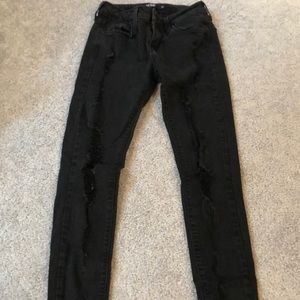 just black black ripped jeans size 26